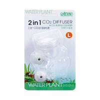 ISTA - Difuzor CO2 + numarator bule, acrylic, 2in1 ( Large) I-502